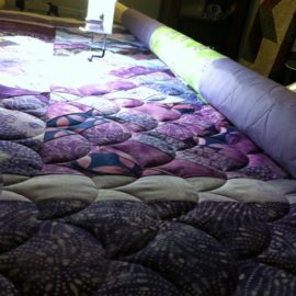 Purple and White Quilt
