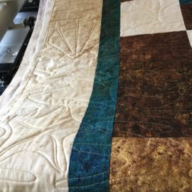 Brown and Blue Quilt